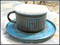 Troika Pottery - Cup and Saucer