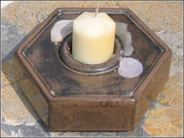Troika Pottery - Hexagonal Candle Holder