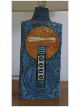 Troika Pottery - Tall Rectangular Lamp Base - Simone Kilburn