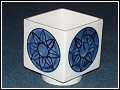 Troika Pottery - Honor Curtis - Round-footed Cube